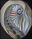 Shell abstraction painting from the Inner Venus series by Marian Gliese of Studio Gliese